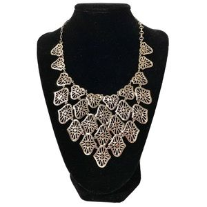 Stainless Steel statement silver necklace